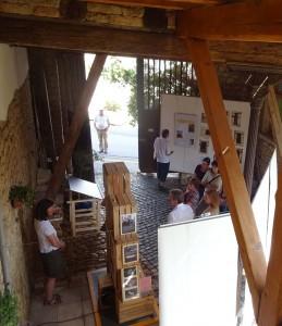 Ausstellung im Innenhof